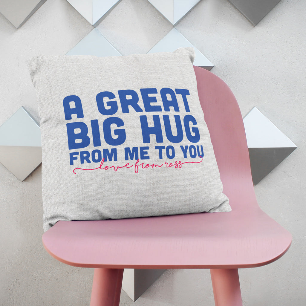 Personalised Great Big Hug Cushion