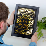 Personalised Metallic Art Deco Name Print