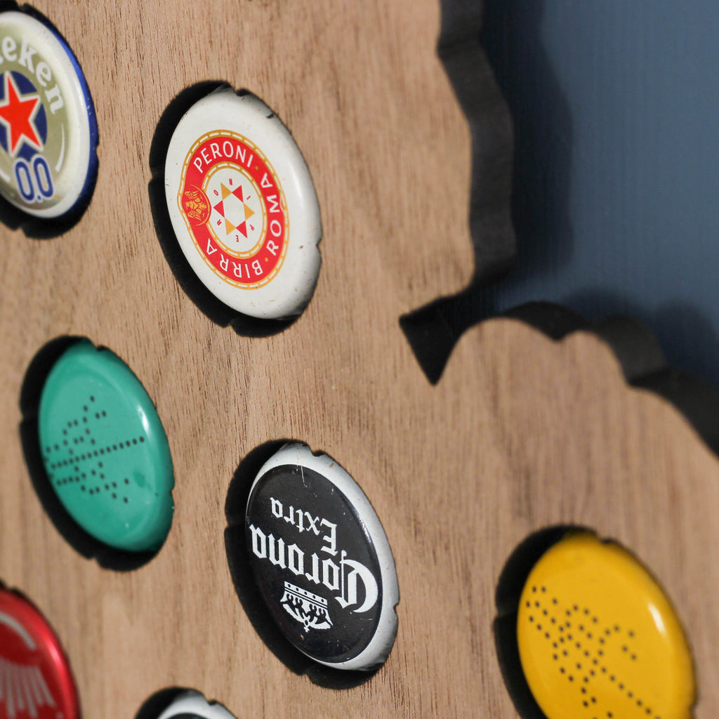 British Isles Beer Cap Map Wall Art