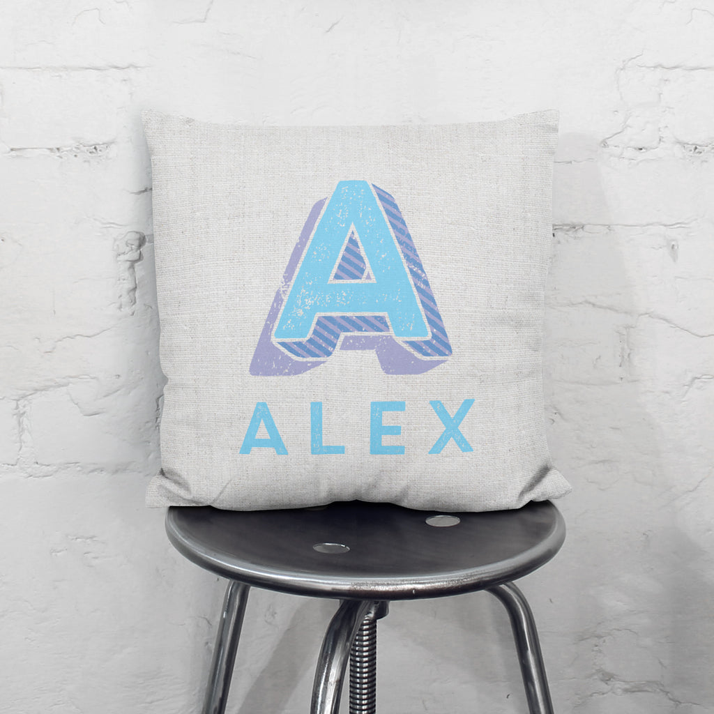 Personalised Carnival Letter Cushion