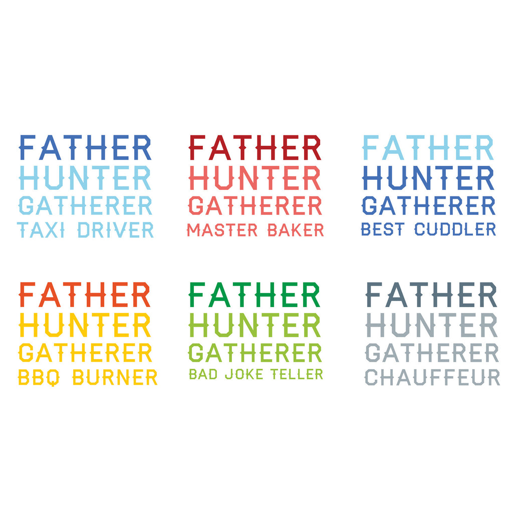 Personalised Father Hunter Gatherer Apron