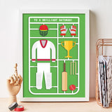 Personalised Airfix Cricket Print