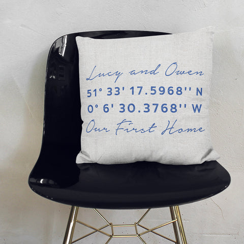 Personalised Co Ordinates Cushion