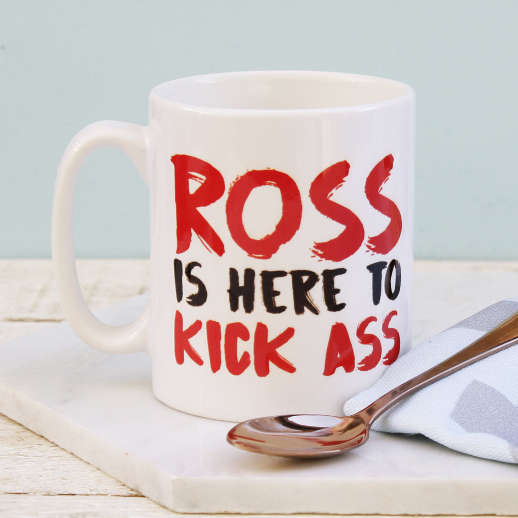 Personalised 'Kick Ass' Mug