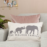 Personalised Elephant Family Cushion
