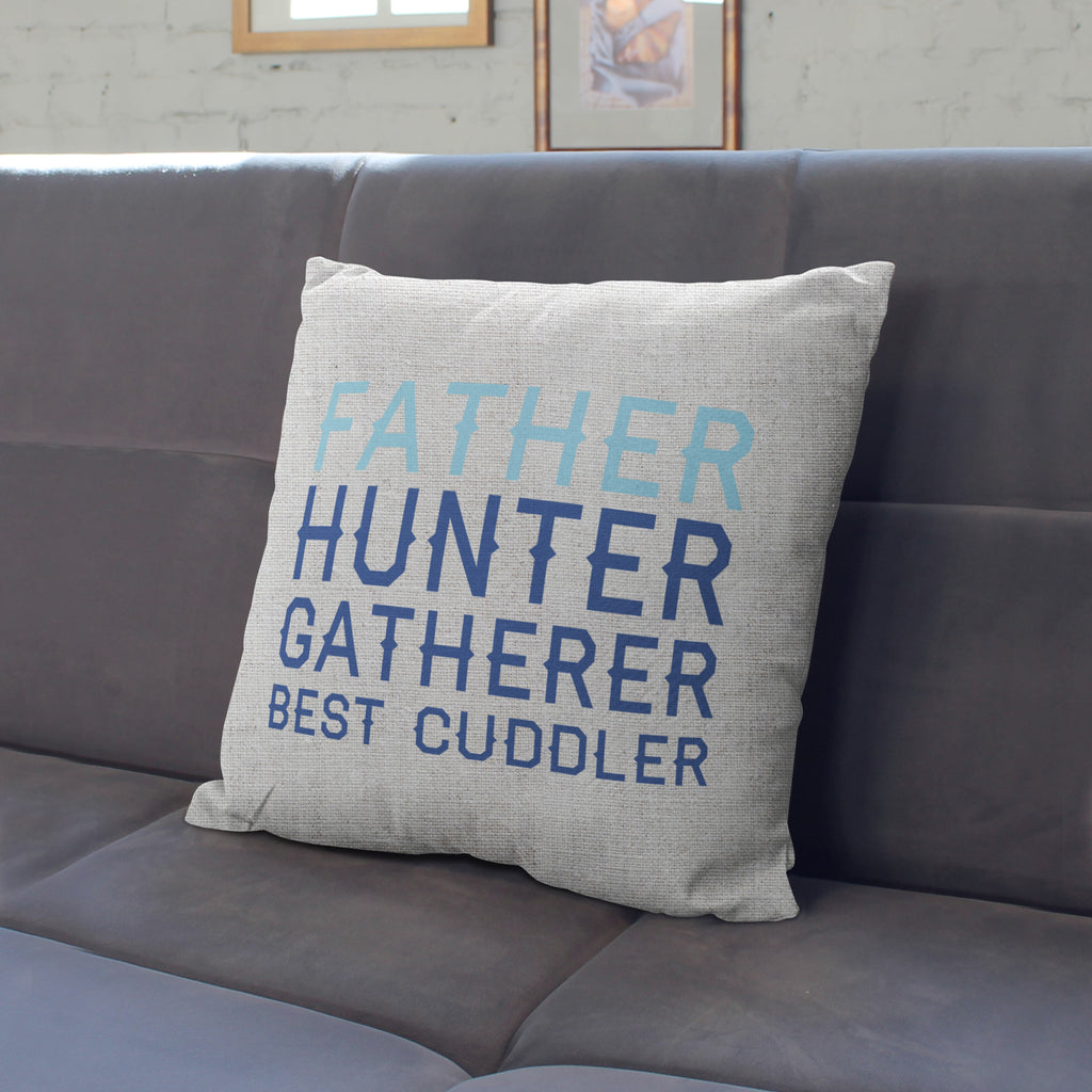 Personalised Father Hunter Gatherer Cushion