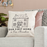 Personalised First House Cushion