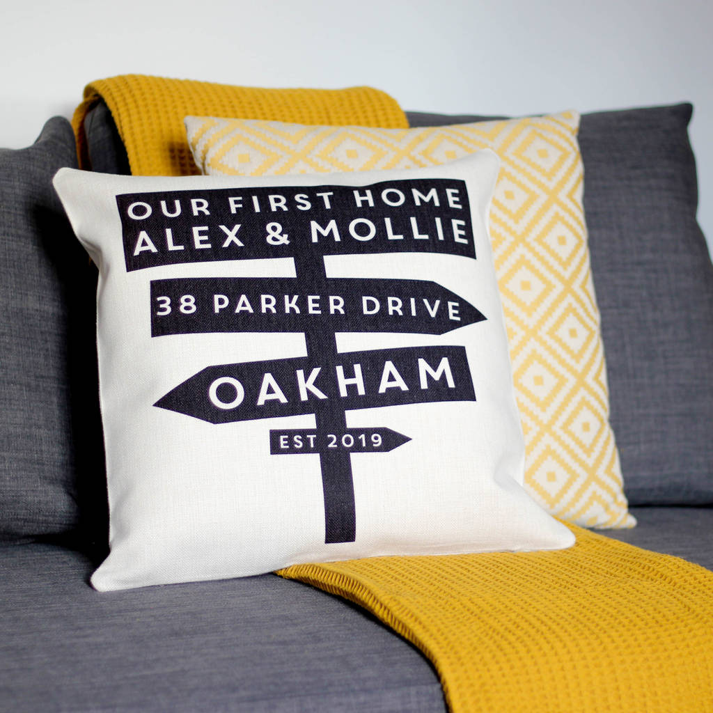 Personalised First Home Cushion