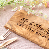 Personalised Mr And Mrs Olive Board