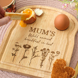 Personalised Mother's Day Toast And Egg Board