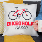 Personalised Bikeoholic Cushion
