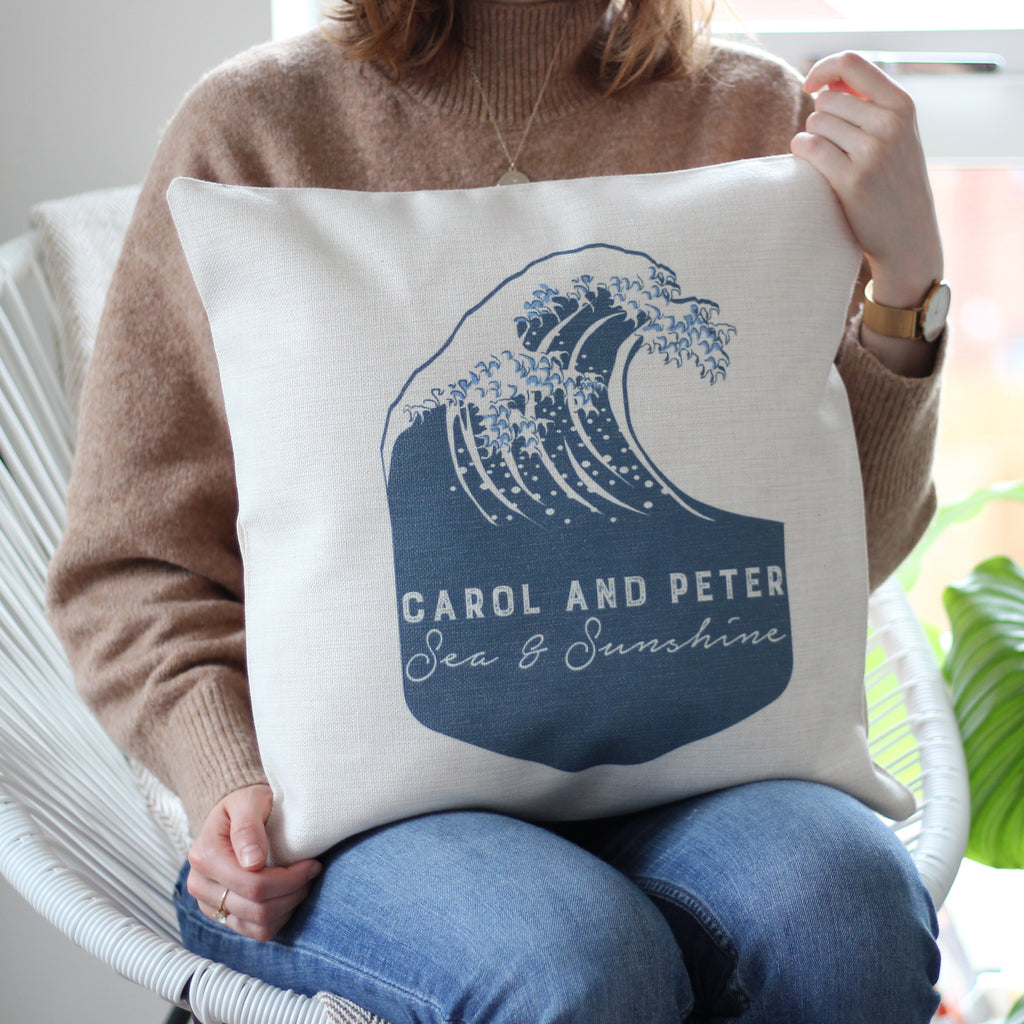 Personalised Wave Cushion