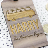 Personalised Wooden Campervan Luggage Tag