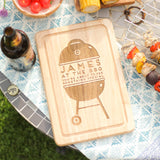 Personalised At The Barbecue Chopping Board
