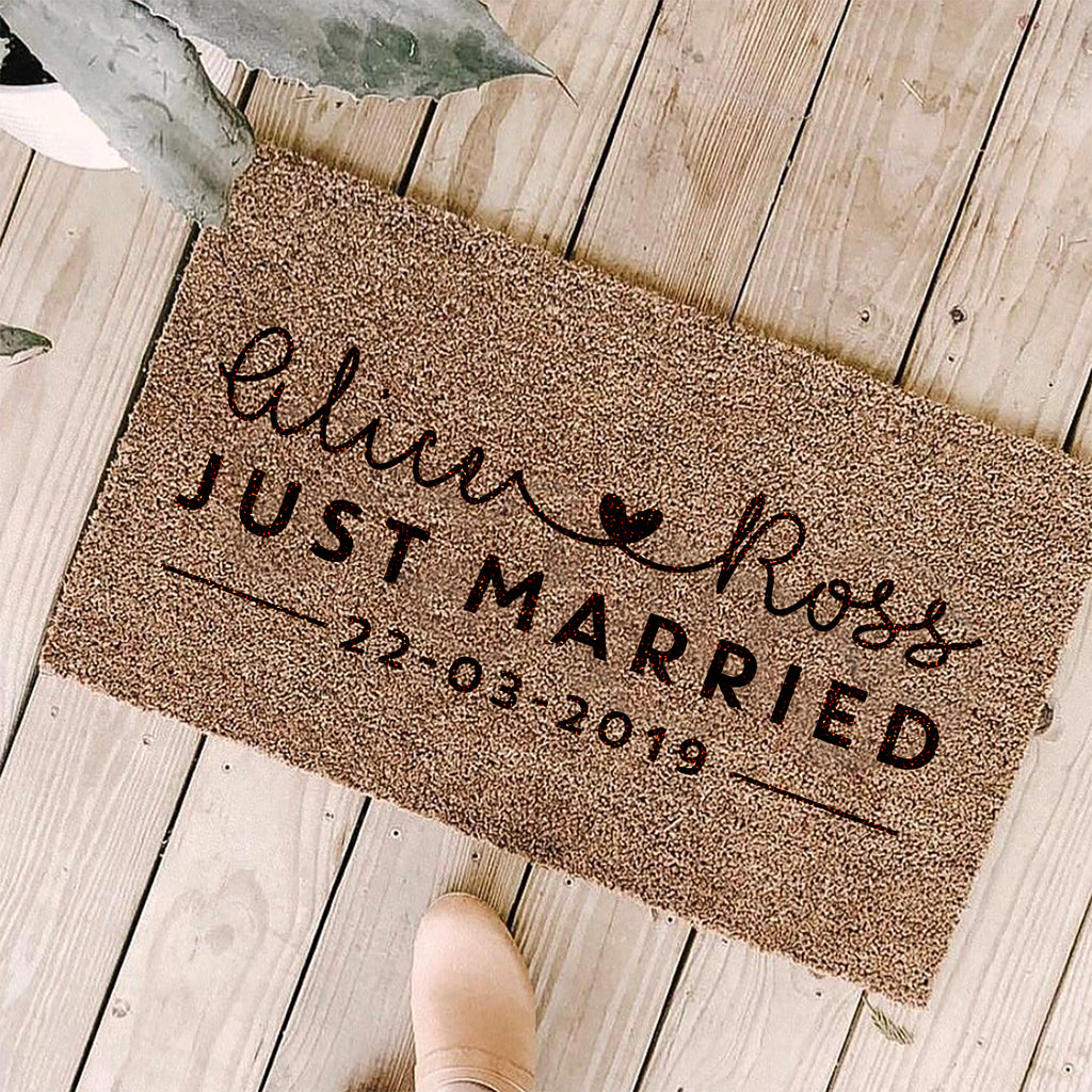 Personalised Just Married Doormat