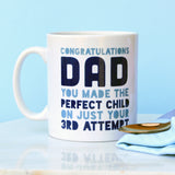 Personalised Congratulations Dad Mug