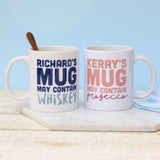 Personalised May Contain Mug