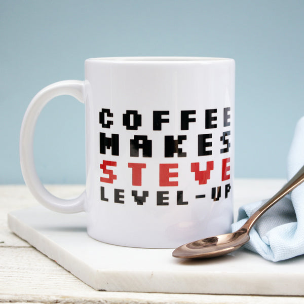 Personalised Level Up Mug
