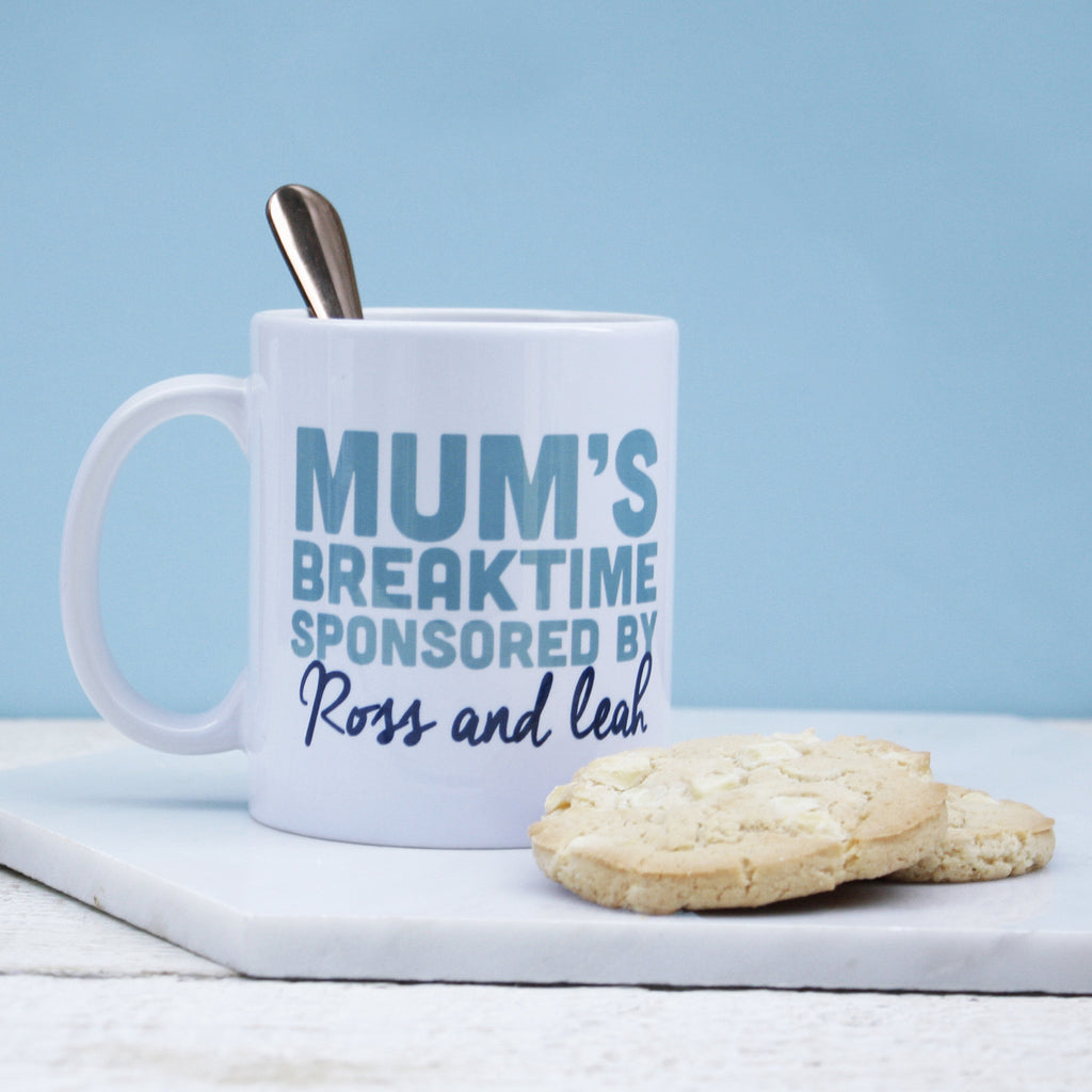 Personalised Sponsored Break Time Mug