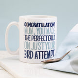 Personalised Congratulations Mum Mug