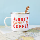 Personalised Campfire Coffee Enamel Mug