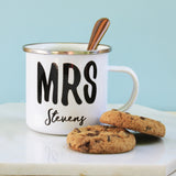 Personalised Mr & Mrs Enamel Mug