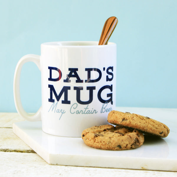 Personalised Dads Mug May Contain Beer