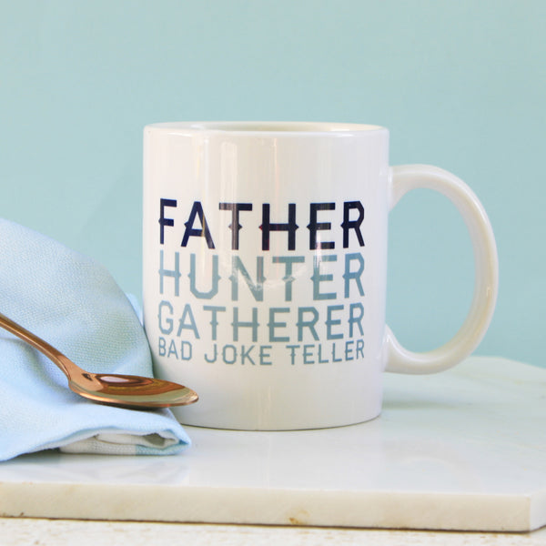 Personalised Father Hunter Gatherer Mug
