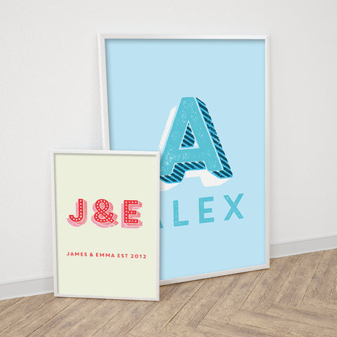 Personalised Carnival Letters Print