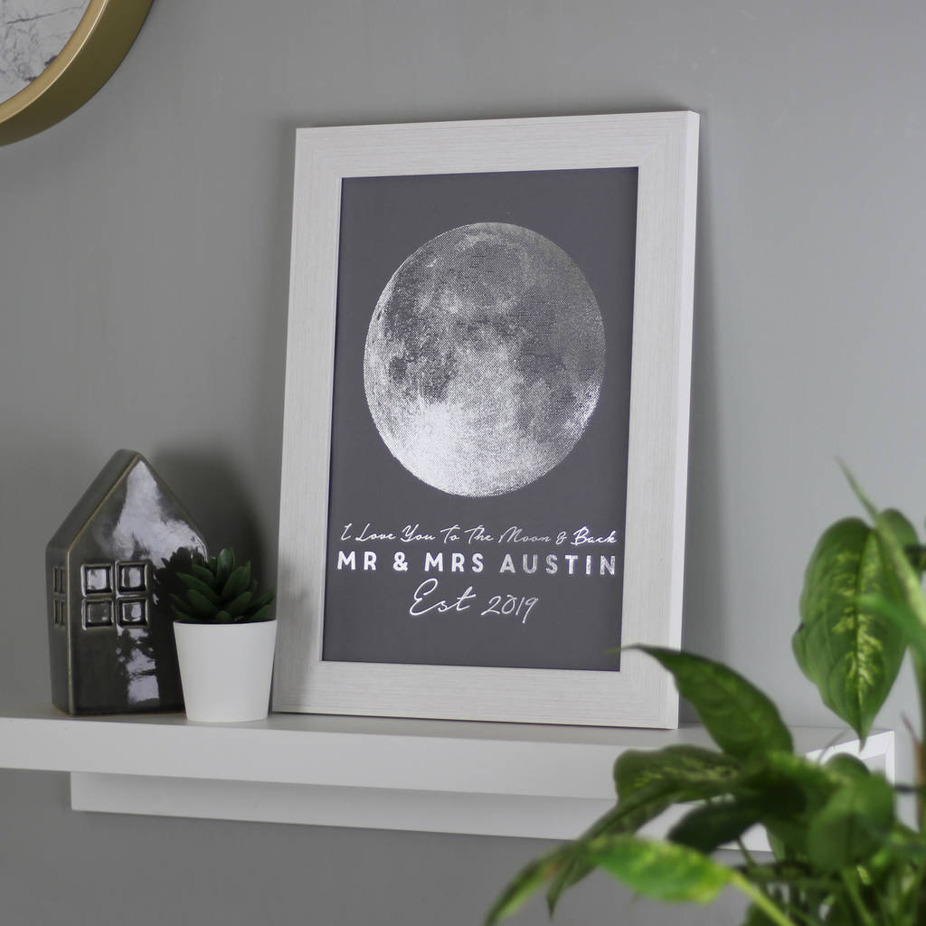 Personalised Metallic Moon Print