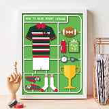 Personalised Airfix Rugby Print