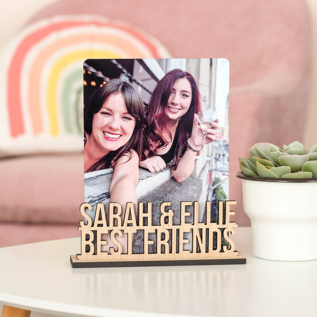 Personalised Best Friend Photo Frame Holder Gift