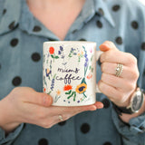 Personalised Botanical Floral Mug For Mum