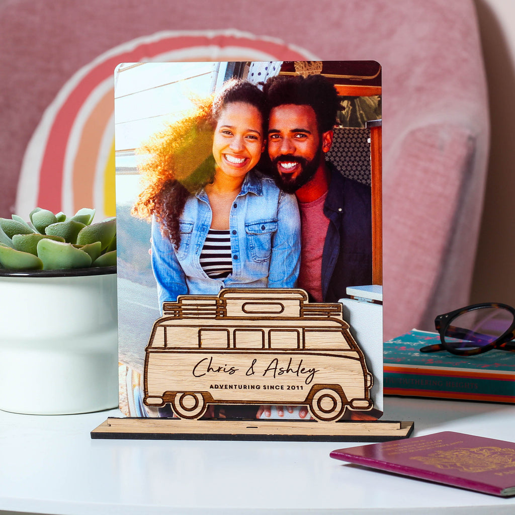 Personalised Campervan Photo Frame For Travel Memories