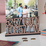 Personalised Coordinates Free Standing Photo Frame