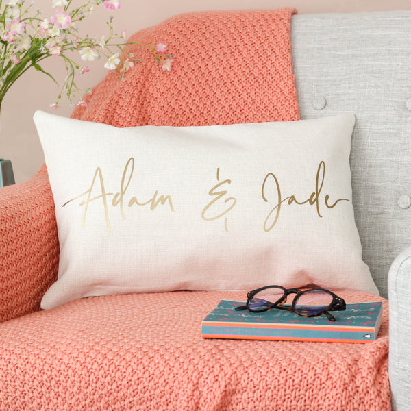 Personalised Couples Name Script Cushion