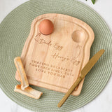 Personalised Dad And Me Dippy Egg And Toast Board