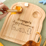 Personalised Dippy Eggs Dinosaurs Board For Children