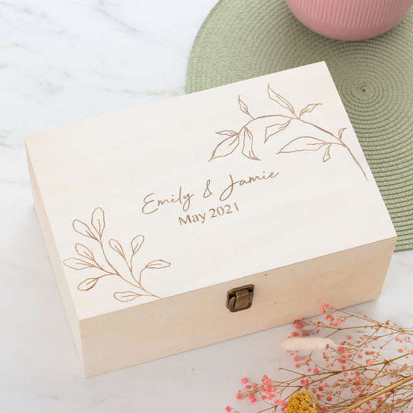 Personalised Floral Keepsake Box For Wedding