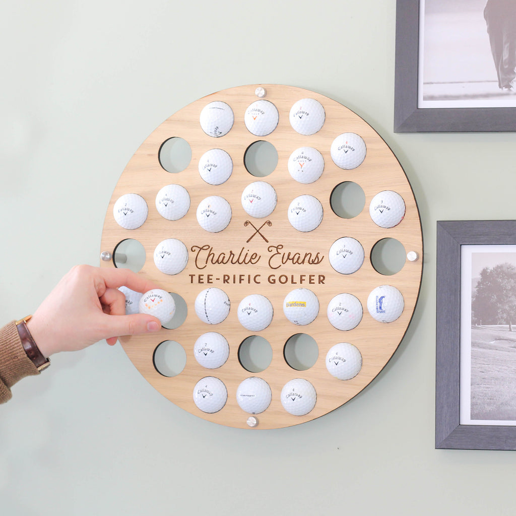 Personalised Golf Ball Wall Art Collector For The Home