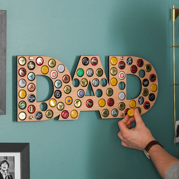 Personalised DAD Bottle Cap Holder For Dad