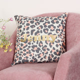 Personalised Leopard Print Cushion For Her