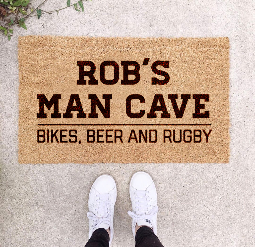 Personalised Man Cave Doormat For Him