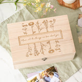 Personalised Mother's Day Floral Keepsake Box
