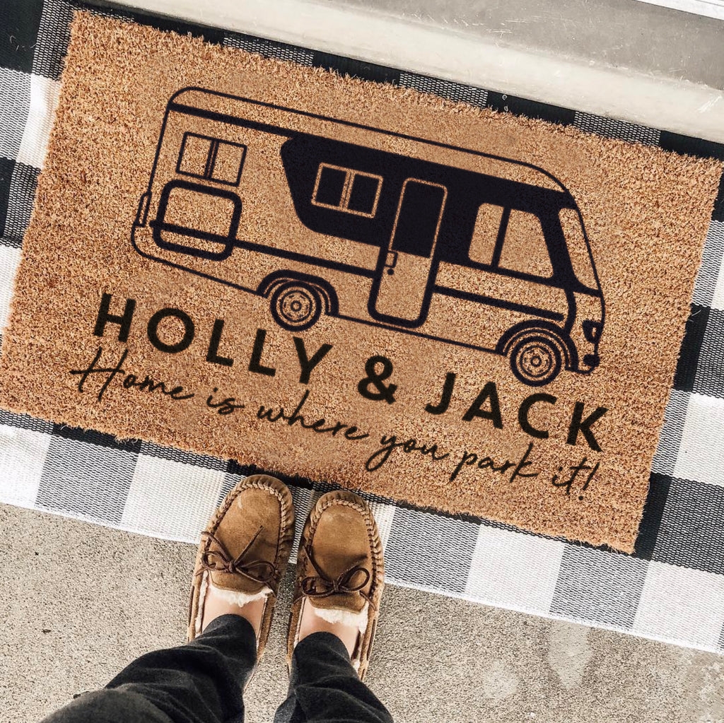 Personalised Motorhome Doormat Travel Gift For The Home