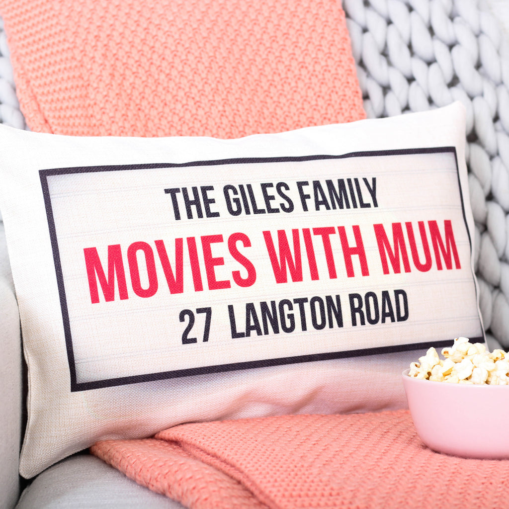 Personalised Movie With Mum Cushion For The Home