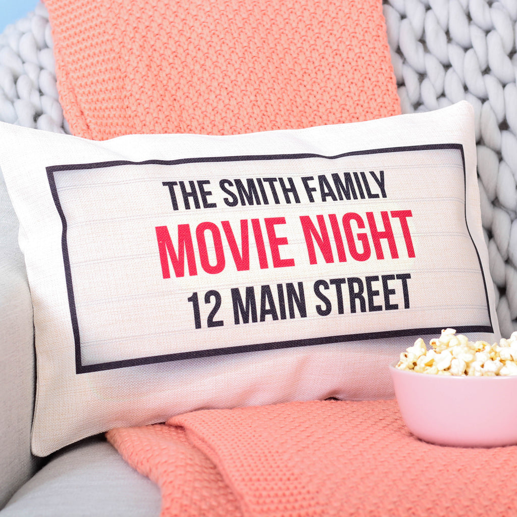 Family Movie Night Personalised Cushion For The Home