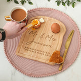 Personalised Mr And Mrs Wedding Dippy Eggs Board