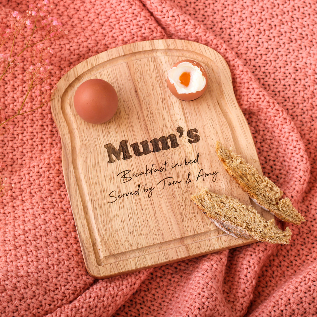 Personalised Mums Breakfast In Bed Board
