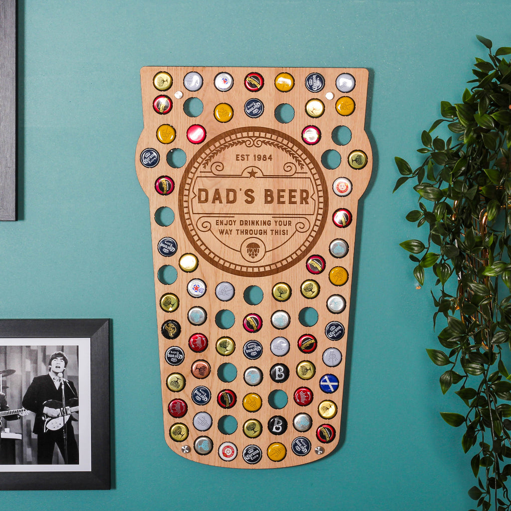 Personalised Pint Glass Bottle Wall Art For The Home